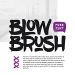 BlowBrush Free Brush Font