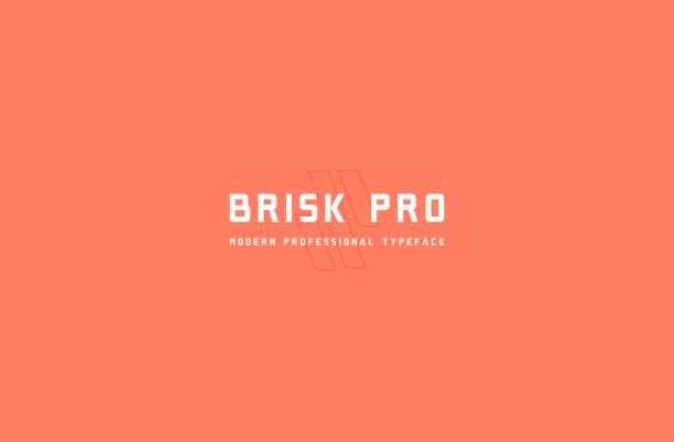 Brisk Pro Typeface