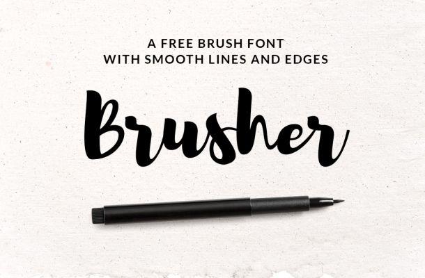 Brusher Font Free