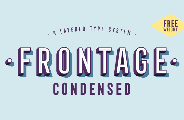 Frontage Condensed Free Typeface
