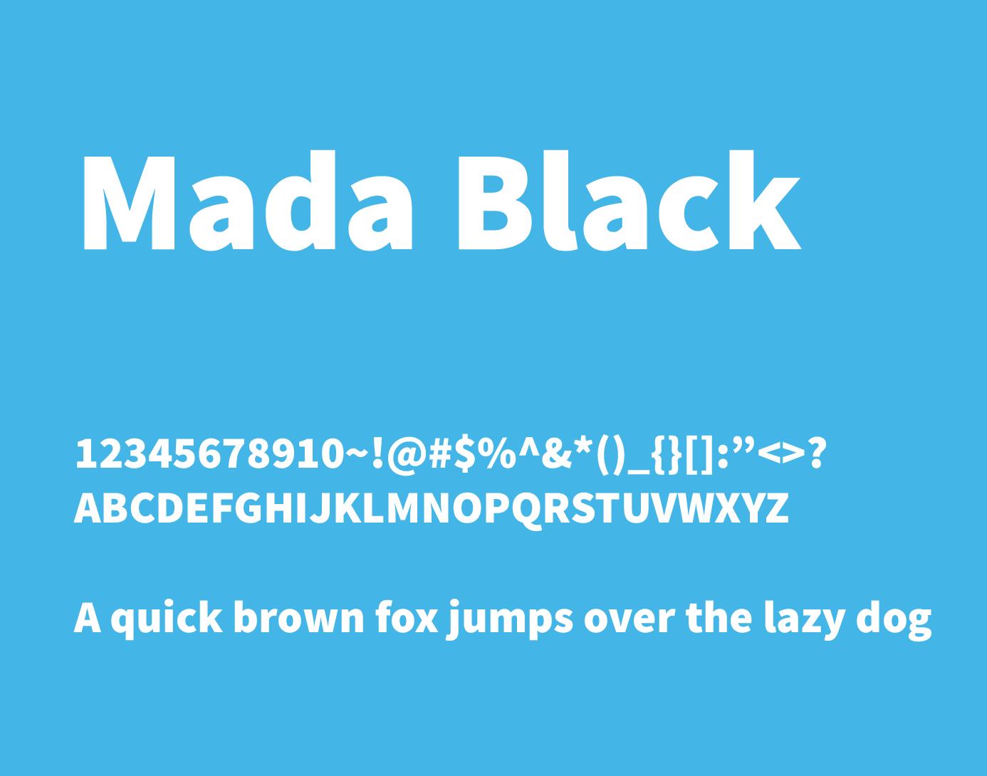 mada black