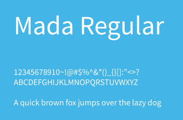 Mada Font Family