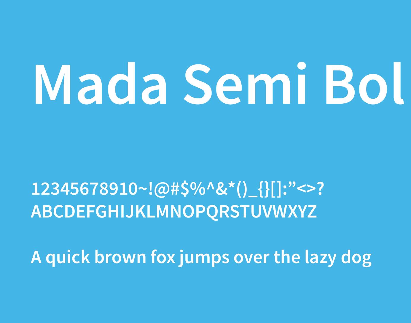 mada semi bold