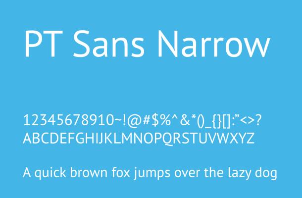 PT Sans Narrow Font Family