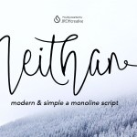 Neithan Monoline Script Free Font