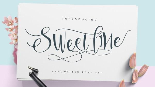 Sweetline Script Free