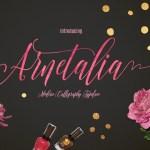 Arnetalia Free Calligraphy Font