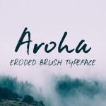 Aroha Free Brush Font