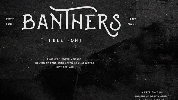 Banthers Free Typeface