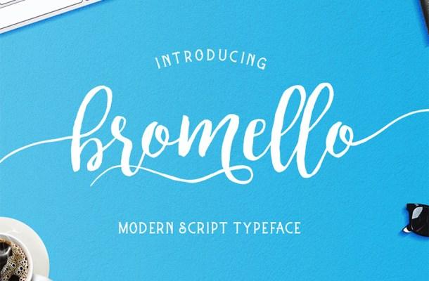 Bromello Modern Script Font