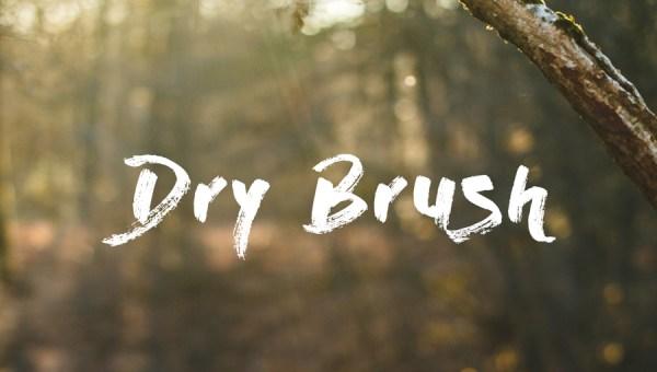 Dry Brush Free Font