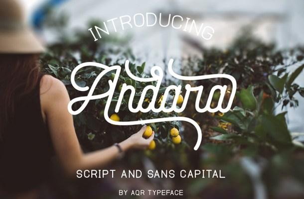 Andara Free Script Font