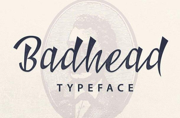 Badhead Typeface Free