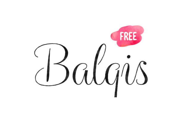 Balqis Script Free Font