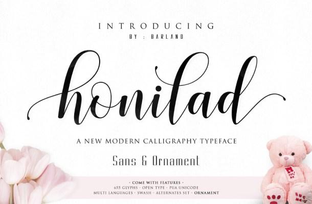 Honilad Script Free Font