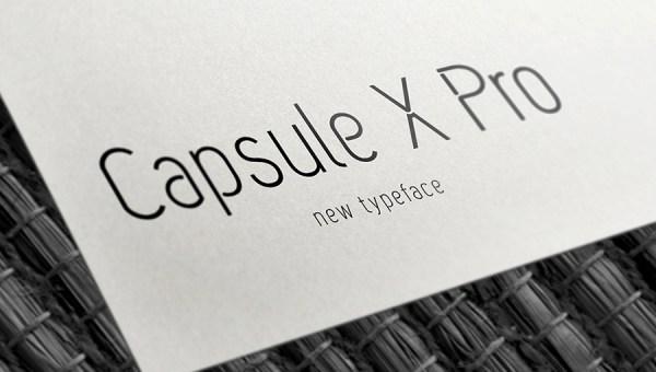 Capsule X Pro Free Typeface