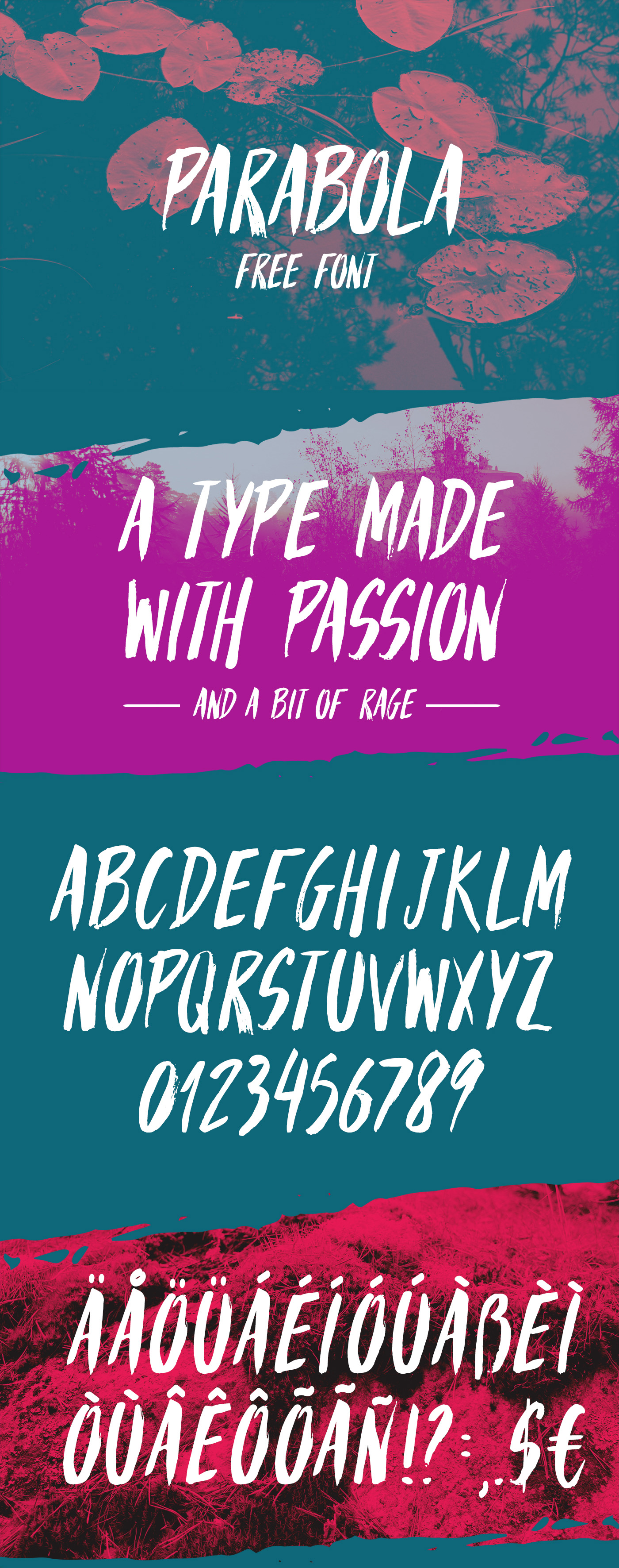 Parabola free font