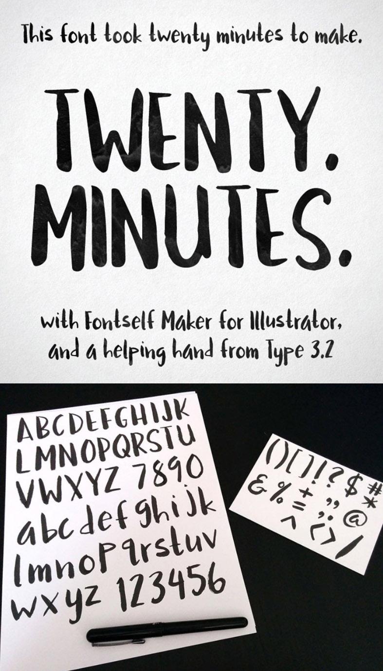 Twenty Minuntes Free Font