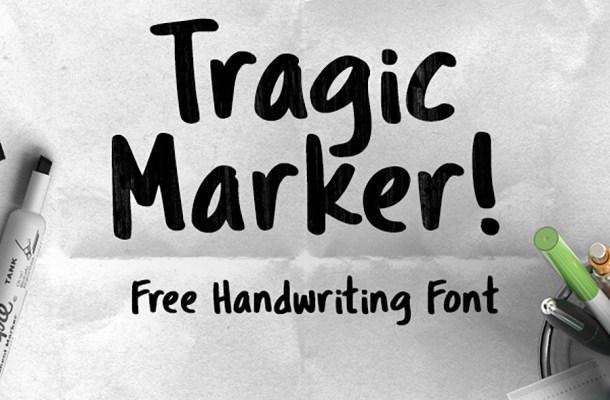 Tragic Marker Font