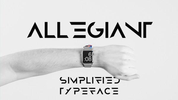 Allegiant Free Font
