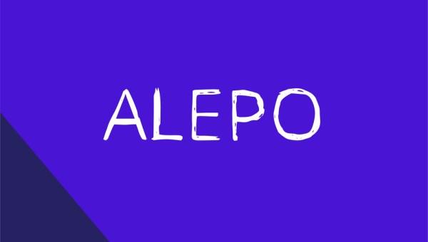 Alepo Free Handwritten Font