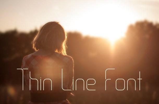Thin Line Free Font