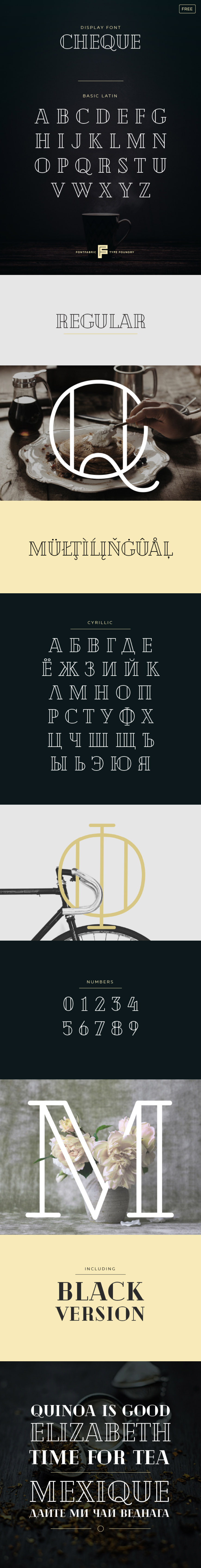 Cheque font - Fontfabric