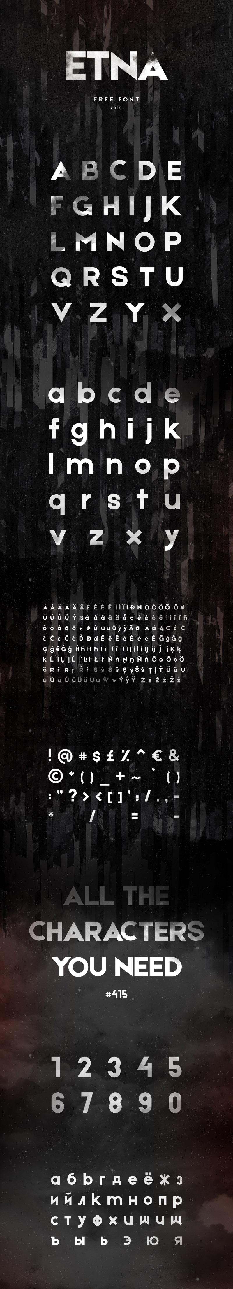 ETNA Free Font - WILDTYPE