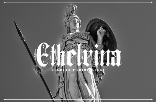 Ethelvina Free Gothic Font Family