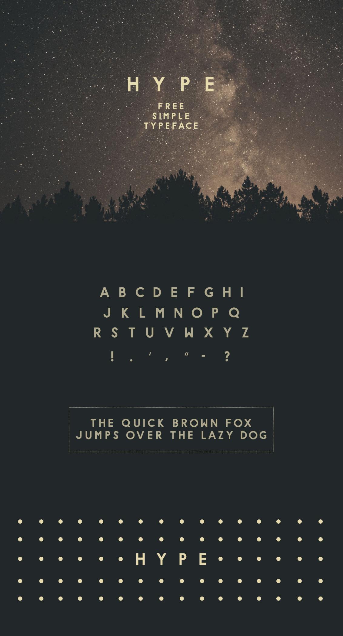 H Y P E typeface