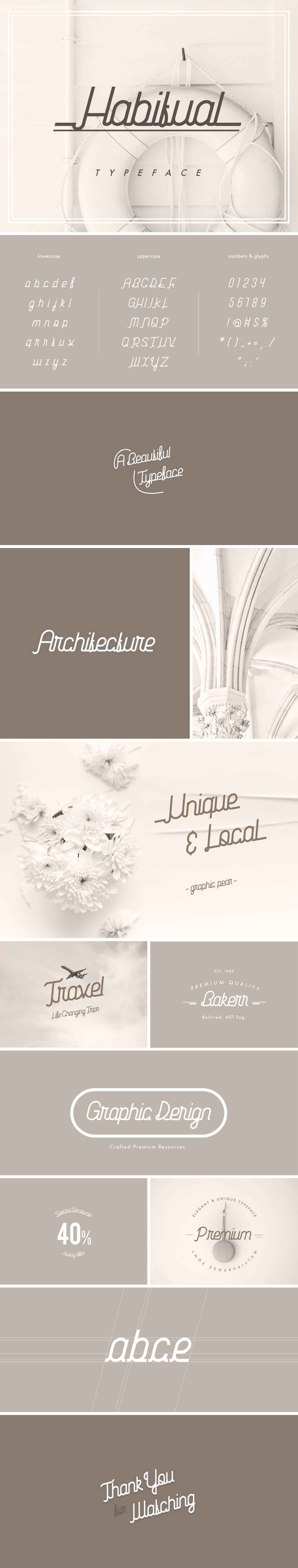 Habitual Digital Handwriting Typeface