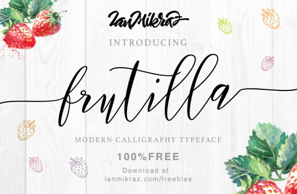 Fruitilla Free Modern Script Font