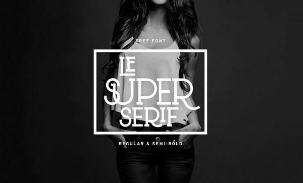 Le Super Serif Free Typeface