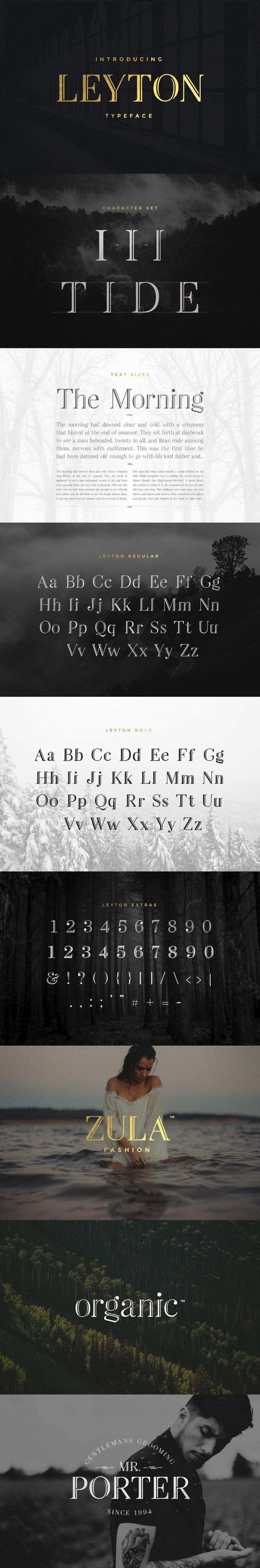 Leyton font