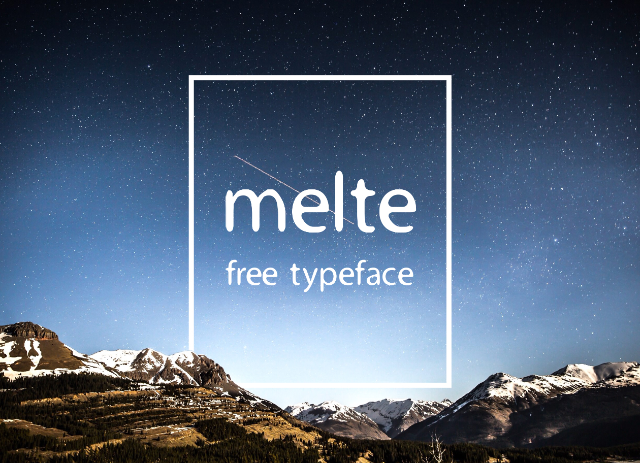 Melte Free Display Font - Free Fonts