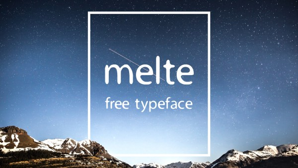 Melte Free Display Font