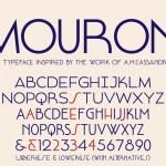 Mouron Free Typeface