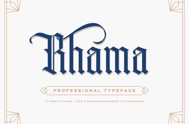 Rhama Gothic Free Font