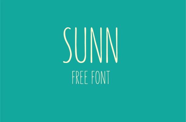 SUNN Free Handwritten Font