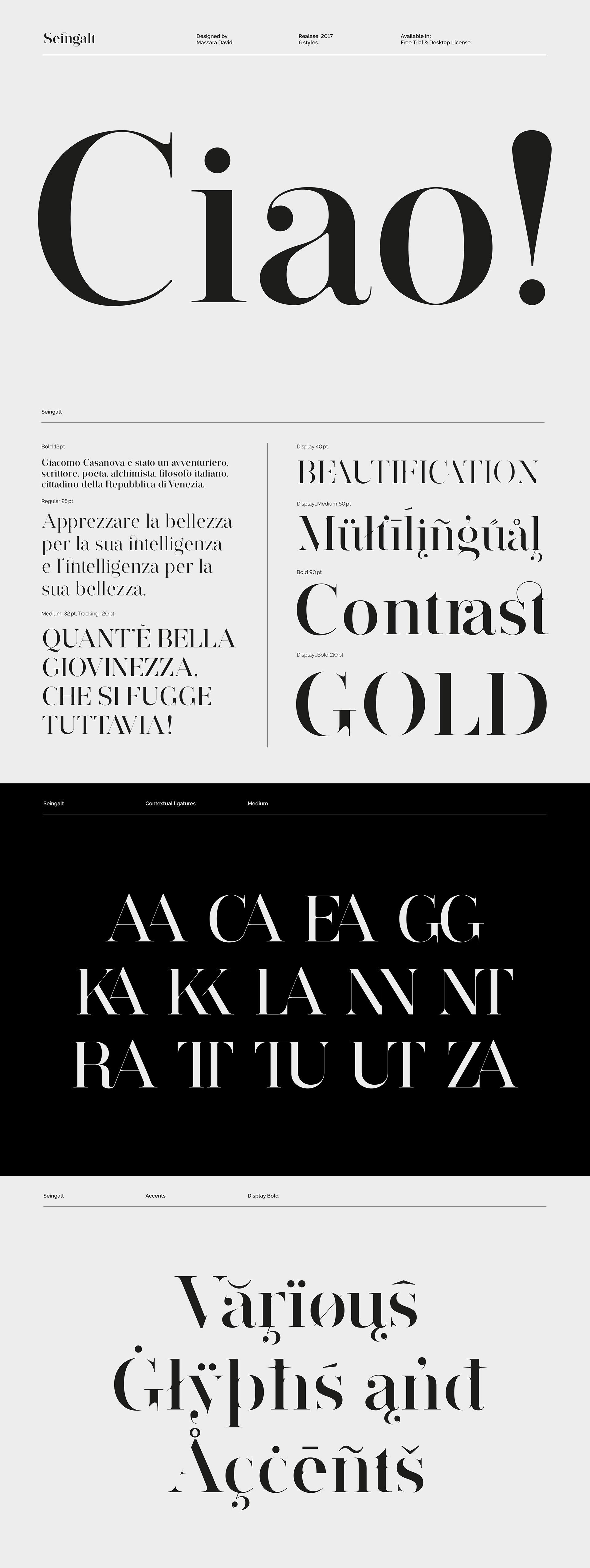 Seingal typeface