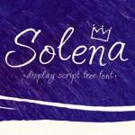 Solena Free Script Handwriting Font