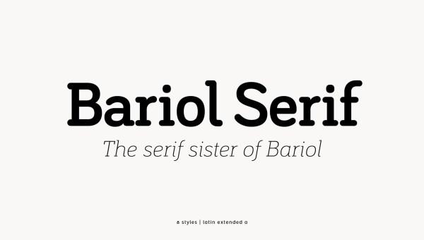 Bariol Serif Free Font Family