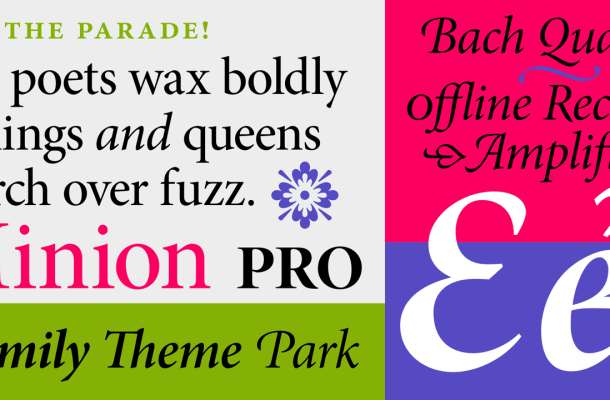 Minion Pro Font Family & Free Alternatives