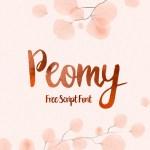 Peomy Free Brush Script Font