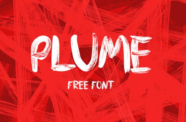 PLUME Free Brush Font