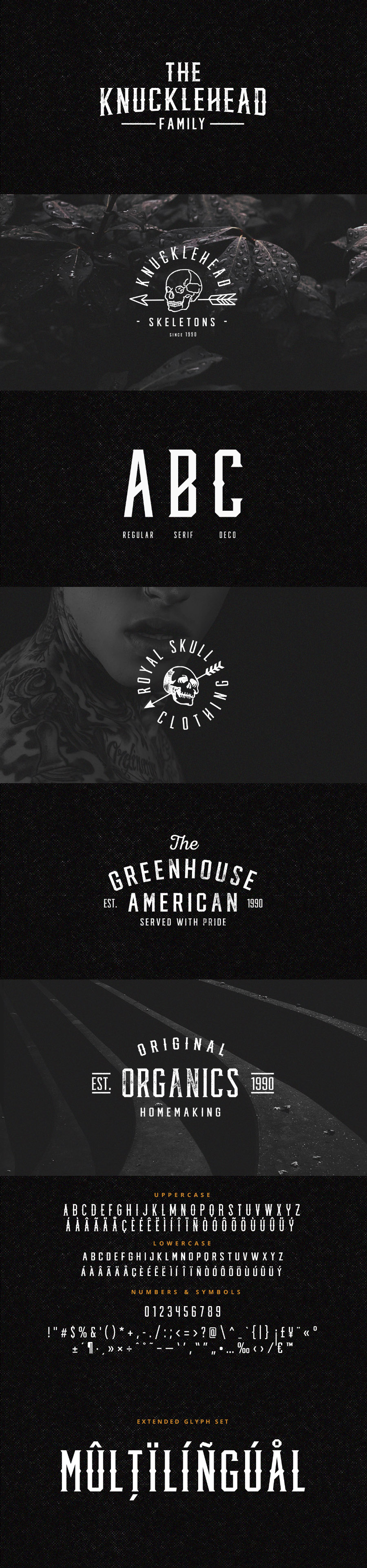 the knucklehead font