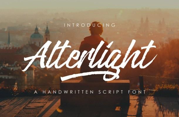 Alterlight Free Handwritten Font