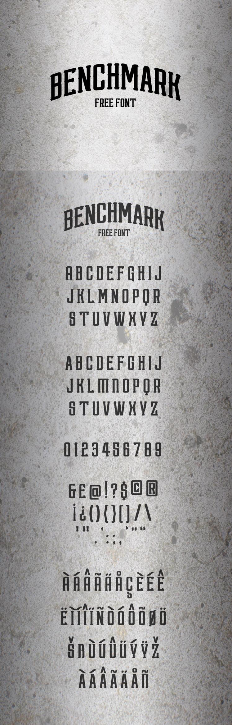 Benchmark Font - Free Design Resources