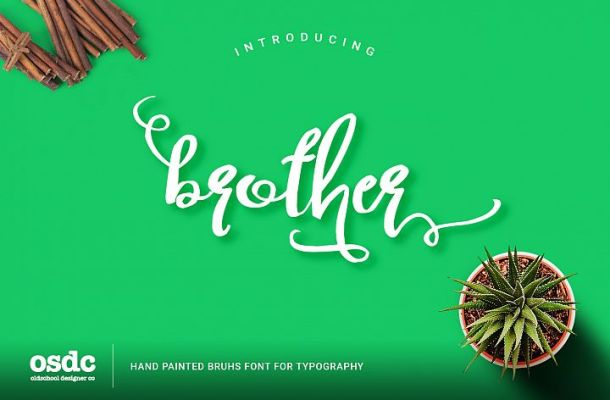 Brother Typography Free Script Font