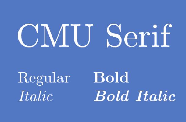 CMU Serif Free Font